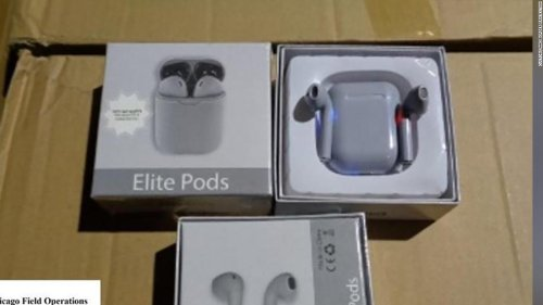 Thousands of 'fake AirPods' seized in Ohio, CBP says