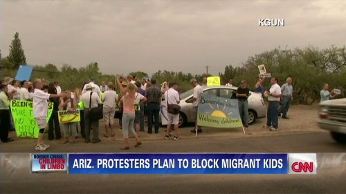 Growing protests over where to shelter immigrant children hits Arizona | CNN
