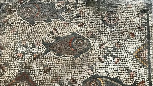 Ancient mosaic found near Sea of Galilee depicts Jesus' loaves and fishes miracle