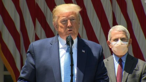 Unveiling vaccine effort, Trump says country will be back with or without one