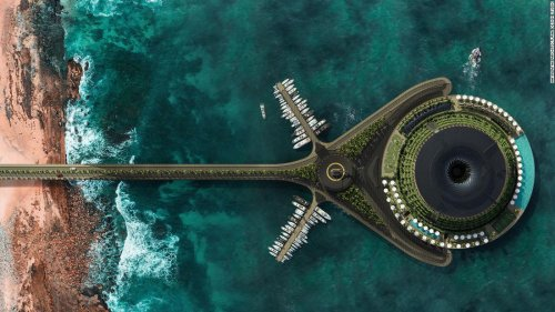 Floating hotel concept creates its own electricity