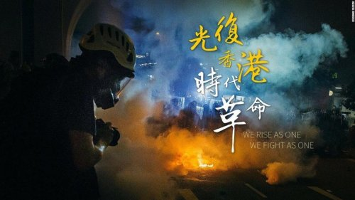 'Be water:' Hong Kong protest mantra influences how art is designed and distributed