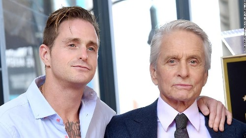 Michael Douglas meets newborn grandson for the first time