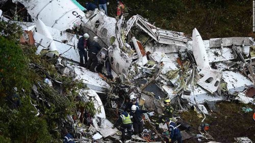 Colombia plane crash: 71 dead on Brazil soccer team's charter flight
