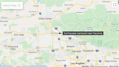 Earthquake shakes Southern California's San Fernando Valley