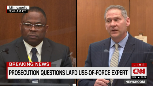 Use-of-force expert testifies that he did not perceive crowd as a threat