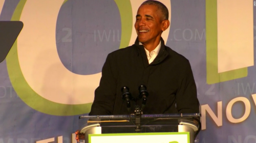'Brother, come on!': Obama mocks GOP candidate for attending 'Stop the Steal' rally