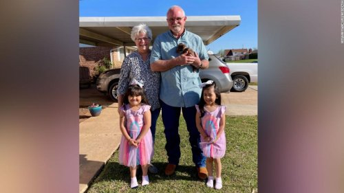 After finding a Christmas wish list tied to a balloon, this man drove hundreds of miles to make two little girls' dreams come true