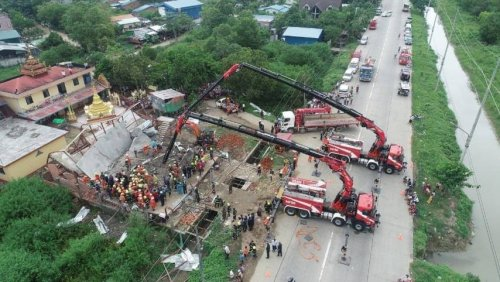 3 workers dead, 3 saved from collapsed South Dagon flat - Coconuts