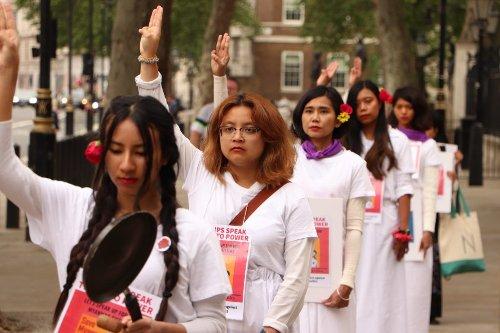#FlowerStrike and #RedLipsSpeakTruthtoPower put Myanmar women in the center of the Spring Revolution