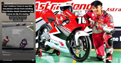 Spanish Moto3 racer receives death threats from Indonesian netizens after crashes with Mario Aji