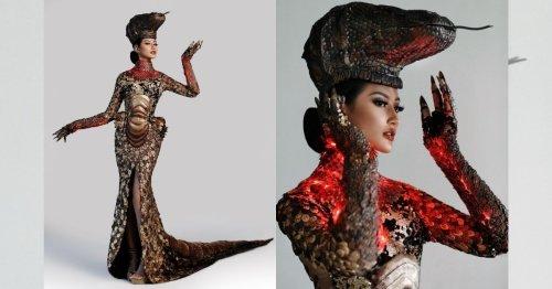 Ayu Maulida fails to crawl into Miss Universe 2020 top 10 despite awesome komodo costume