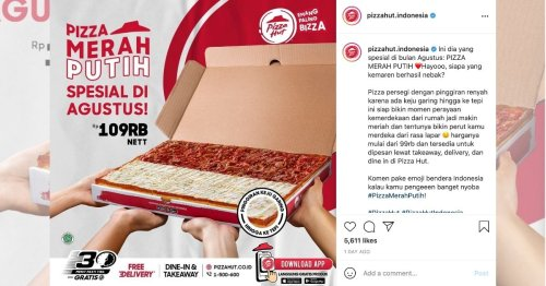 Pizza Hut launches limited edition red-white pizza for Indonesia's Independence Day