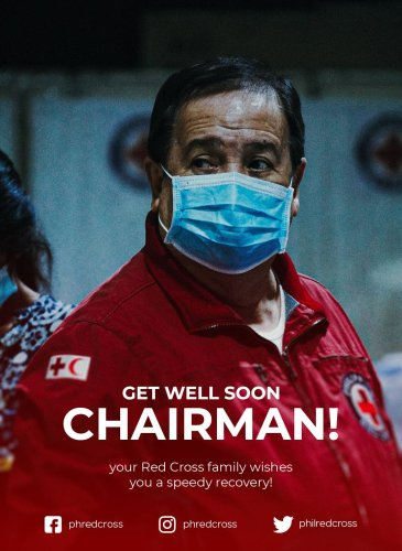 Red Cross sends a 'Get Well Soon' tweet after Sen Dick Gordon tests positive for Covid-19