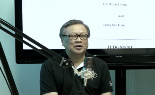 Critic Leong Sze Hian asks for more help – this time to pay PM Lee's legal fees