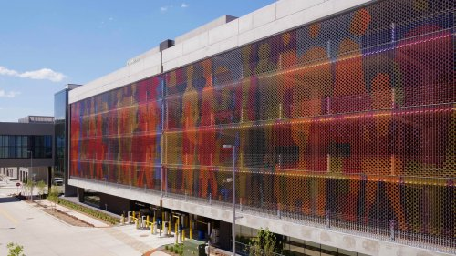 """""""What Is The City But The People"""" 89,000 Polycarbonate Tiles and Stainless Steel Cables, 30,000 sq.ft - CODAworx"""