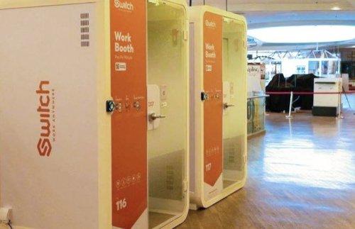 Inventan las cabinas de prepago para escapar del teletrabajo en casa