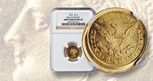 Market Analysis: A broadstruck 1855 gold quarter eagle