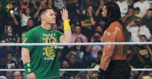 WWE's John Cena Wrestles Dark Match and Confronts Roman Reigns After SmackDown