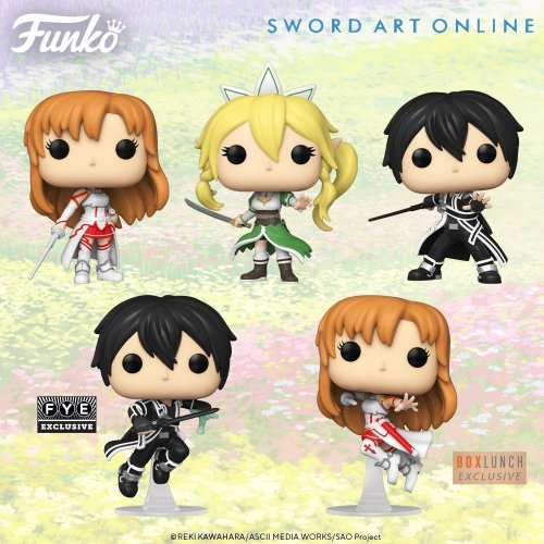 New Sword Art Online Funko Pop Pre-Orders: Asuna, Kirito, and Leafa