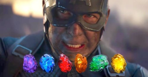 Captain America Returns All The Infinity Stones In Avengers: Endgame Fan Art