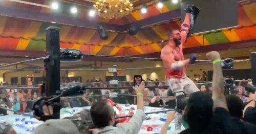 Matt Cardona Getting Pelted by Garbage at GCW Homecoming Draws Comparisons to Hulk Hogan's Heel Turn