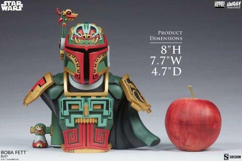 Star Wars Boba Fett Urban Aztec Bust Blends Mayan and Mandalorian