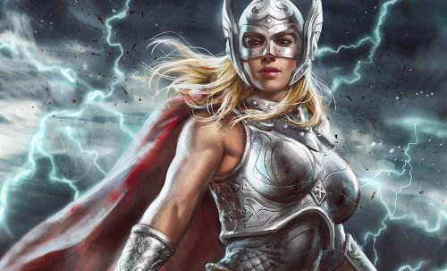 Jane Foster's Thor From Love and Thunder Revealed on Crew Shirt