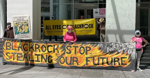 Climate Activists Put 'All Eyes on BlackRock' With Protests Demanding Shareholder Action