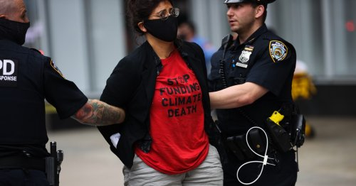 40+ NYC Activists Arrested for Protests Against Banks Fueling Climate Emergency