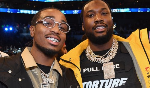 Quavo Appears to Celebrate Winning Bet With Meek Mill After Hawks Beat Sixers
