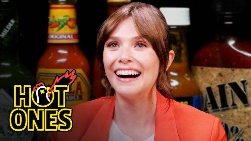 Elizabeth Olsen Feels Brave While Eating Spicy Wings | Hot Ones