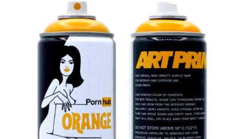 Pornhub and Art Primo Launch Limited Edition Spray Paint and Apparel Collection