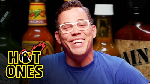 Steve-O Takes It Too Far While Eating Spicy Wings   Hot Ones