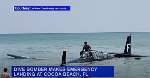 World War II-Era Plane Makes Emergency Landing in Ocean at Florida Air Show