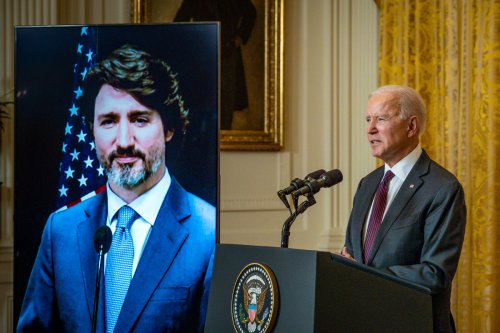 Biden Talked to Trudeau About Sending Extra Vaccines to Canada: 'We're Going to Try and Help'