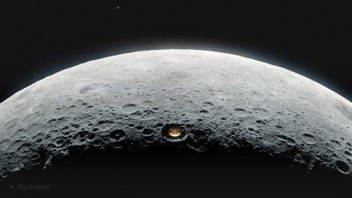 Astrónomos buscan cómo escapar de los satélites cegadores de Elon Musk: un telescopio en un cráter de la Luna