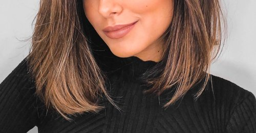 The elongated bob is the pretty, grown-out way to rock a shoulder-length cut