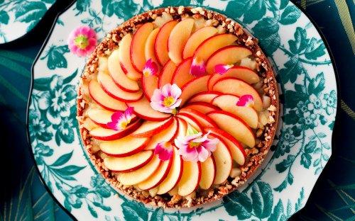 Pecan Frangipane Tart With Caramelized Apples