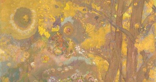 Chef-d'œuvre symboliste: focus sur Arbres sur fond jaune d'Odilon Redon   Connaissance des Arts