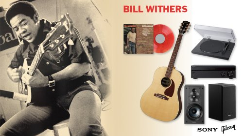 Win Bill Withers' Just as I Am on vinyl, a Gibson guitar, and a Sony sound system