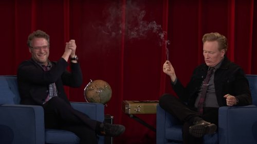 Conan O'Brien Tokes with Seth Rogen During Final Week of Conan: Watch