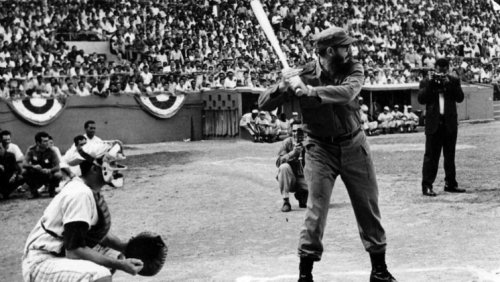 Vintage photos of Cuban leader Fidel Castro playing baseball   Considerable