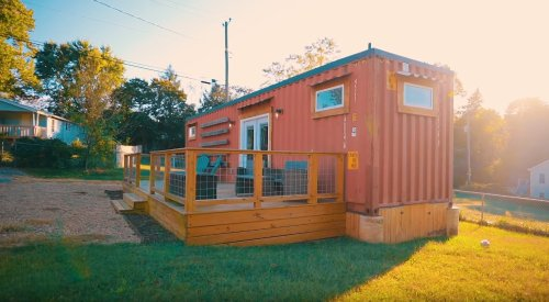 Fresh and Modern Asheville Shipping Container Home