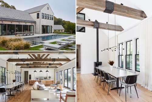 A Light Wood Shingle Exterior Completes The Modern Farmhouse Look For This Home