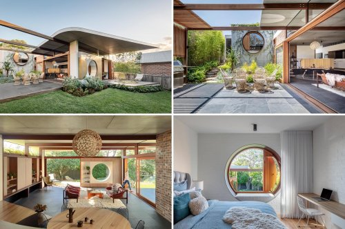 Circles Are A Design Theme Found Throughout This House Addition