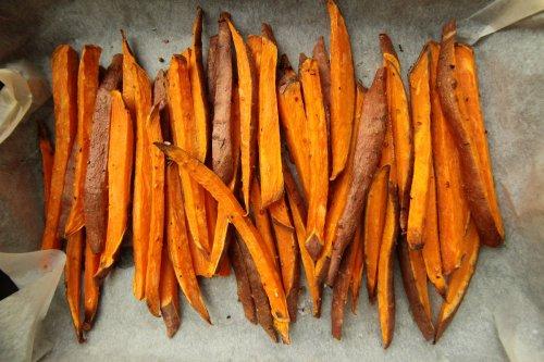 Sweet Potato Pommes aus dem Backofen