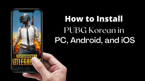 install PUBG Korea on Android, iOS, and PC devices : Various Methods