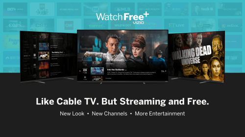 VIZIO Unveils New Look and Channels on its WatchFree Video Service