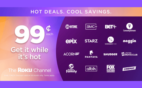 Last Chance: Get a Month of Starz, Showtime, AMC+ & More for Just 99 Cents from The Roku Channel | Cord Cutters News